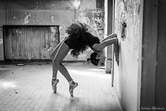 Urbex'Gym - Melanie (Antoine Blanchais Photography) Tags: shooting shoot photo urbex urban exploration abandonnedwolrd abandonned wolrd black white blackwhite gym gyms gymnastic gymnastique grs souplesse souple extrement extreme fille girl jolie beaute femme feminine alsace strasbourg france french