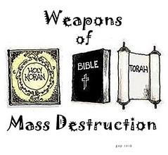Religion.289 (gap821) Tags: religion atheism bible koran torah holybooks sacredbooks weaponsofmassdestruction