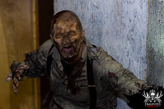 Striking a pose (SlayervilleProd) Tags: zombie makeup halloween baldwinasylum slayerville slayervilleproductions undead hauntedhouse baldwinasylum2016videoshoot