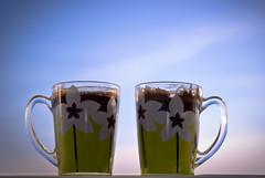 Coffee time! (scr1pteg) Tags: coffee cups tea morning dawn sky bluesky couple two