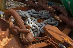 Nautical 2 (redladyofark) Tags: nautical sea ship anchor chain winch shackle chandlery