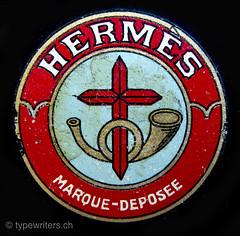 Hermes 2 typewriter logo (shordzi) Tags: 1920s typewriter logo switzerland suisse 1923 schreibmaschine serialnumber 1275 paillard seriennummer machinecrire madeinswitzerland hermes2 1920er
