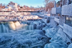 Frozen Winterland (Perry McKenna) Tags: ontario ice water canon river flow frozen dam waterfalls mississippiriver day5 umbrellas almonte balconywithaview 05jan13 day5365 35lf14 5diii 3652013 365the2013edition frozenumbrellas notthesamemississippi