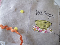 I love tea ... (monaw2008) Tags: vintage bag tea handmade linen fabric pouch patchwork applique teabag teawallet monaw monaw2008
