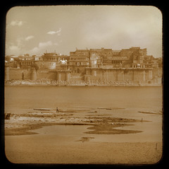 Memory Of A Certain Image (designldg) Tags: travel india heritage texture water mystery sepia architecture river square photography asia view dream culture atmosphere palace soul varanasi shanti eternity dharma