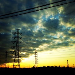 Sunset (Kumiko709) Tags: square   iphoneography