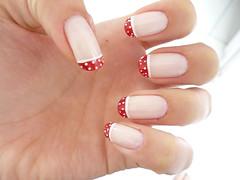 Unhas decoradas (Josiane Konrad) Tags: red white ball with little nails frenchie com vermelha unhas branca bolinha decorated unha francesinha decorativa decoradas