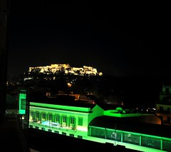 magic city (dimitra_milaiou) Tags: life city people colour green love architecture night greek lights design nikon europe moments d magic centre hill lifestyle athens dreaming greece thoughts acropolis 90 akropolis dimitra d90 akropoli      milaiou