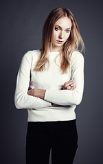Maja (weaselphoto) Tags: portrait people white black color fashion studio person model posed posing hasselblad blonde hasselbladh4d40