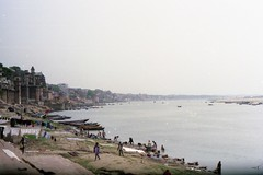Varanasi, India (Susanna-Cole King) Tags: travel india film analog river asia 35mmfilm sacred varanasi ganges holycity