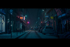 Cyberpunk (- Loomax -) Tags: sf street blue winter snow paris night scifi cinematic cyberpunk futur cinematicphotography