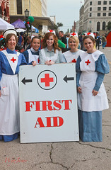 Need First Aid? (wyojones) Tags: christmas woman holiday galveston students girl beautiful beauty smile hat sign festival shirt strand eyes uniform pretty texas teeth blueeyes victorian curls lips redhead apron universityoftexas blonde nurse earrings brunette lovely browneyes redcross firstaid nursingschool dickensonthestrand nurseuniform victorianholiday facultymember wyojones