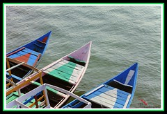 Boats (soumen19xx) Tags: blue india lake color green art water digital canon geotagged photography eos boat focus asia natural photos outdoor sigma deck ripples t3 plank 70300 cs3 stillphotography creativeart 1100d