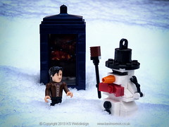 The Doctor Building A Lego Snowman (Dr Who)