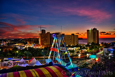 viking ride sunset (victorconsaga) Tags: city lights fujifilm guam tumon xe1 oleono hdrengine