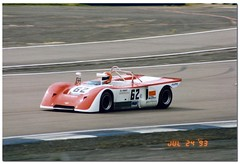 Ed Swart Chevron B19. International Supersports Cup. Coys Historic Festival at Silverstone 1993. (Antsphoto) Tags: classic car northampton classiccar britain historic 1993 carshow sportscar motorsport autosport canam motorcar supersports motoracing silverstoneclassic antsphoto silverstonehistoricfestival anthonyfosh