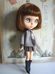 Conjunto de capa y falda para Blythe