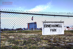 Ernie Harwell Park ( site of former Tiger Stadium ) (DetroitDerek Photography ( ALL RIGHTS RESERVED )) Tags: urban home sign canon site football lemon closed baseball detroit gone historic horton cobb 5d 1912 morris michiganavenue february briggs venue sparky gibson demolished detroitlions hdr tigerstadium whitaker allrightsreserved navin ballfield mkii detroittigers 313 thecorner newhouser 1895 motown mclain kaline northrup 2013 3exp ernieharwell gehringer georgekell lolich ernieharwellpark lougehrigplayedhislastgamehere reggiejacksonallstargamehomerunoffthelighttower