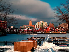 "Towards city hall from the Erie Basin Marina • <a style=""font-size:0.8em;"" href=""http://www.flickr.com/photos/59137086@N08/8464254852/"" target=""_blank"">View on Flickr</a>"
