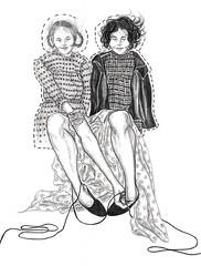 Aline Daka, Projeto Da ltima inocncia, Repertrio #1: Meditaes, 2012. (Aline Daka) Tags: paper bonecas dolls papel desenho