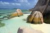 DSC_2530b La Digue, Seychelles: Anse Source d'Argent (wanderlust  traveler) Tags: ocean africa blue sea panorama nature landscape island rocks paradise palmtree tropical seychelles ladigue torquoise