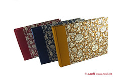 Photo Album Renaissance Flower blue red yellow (nauli.nauli) Tags: flowers floral handmade photobook blumen bookbinding photoalbum weddingalbum handgemacht fotoalbum madeingermany nauli reanissance handgebunden geblmt hochzeitsalbum handmadeingermany