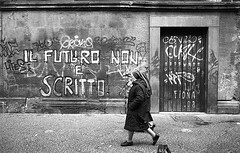 (Future is Unwritten) (Robbie McIntosh) Tags: door leica blackandwhite bw film monochrome wall analog 35mm graffiti religion streetphotography rangefinder nuns bn summicron negative ilfordhp5 400 hp5 christianity analogue ilford m6 2stoppush biancoenero argentique leicam6 dyi selfdeveloped pellicola analogico leicam6ttl emofin leicam filmisnotdead autaut leicasummicron35mmf20iv twobathdeveloper tetenalemofin leicasummicron35mmf2iv summicron35mmf20iv pushed1600iso