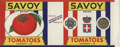 Savoy Tomatoes (Jon Williamson) Tags: food history illustration vintage advertising label ad advertisement labels crate fruitcrate vintascope