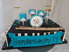 P1015473 (Pastries by Design) Tags: music cake drums drum stripes special occasion