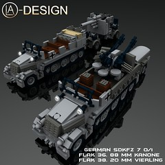 LEGO German SdKfz 7 FLak 38 36 Pak 88 mm 0 (LA-Design2012) Tags: lego wwii 7 71 sd german ww2 instructions pdf mm 20 custom 88 36 xml flak 38 pak moc kfz sdkfz bauanleitung ladesign flakvierling