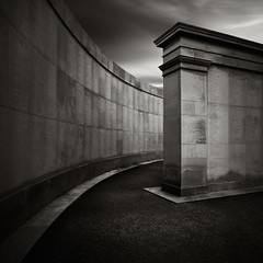 Time Honoured (Andy Brown (mrbuk1)) Tags: longexposure cloud lines wall contrast dark square mono blackwhite moody military curves pillar dramatic column vignette tone inscription slabs gravitas nationalmemorialarboretum neutraldensity nd110