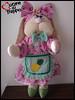 Coelhinha Rosinha (cuoreditrappo) Tags: páscoa coelha coelhinha tecido boneca
