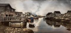Peggy's Cove, Nova Scotia (Phiddy1) Tags: texture photomix pentaxart bestcapturesaoi magicunicornverybest creativephotocafe besteverdigitalphotography besteverexcellencegallery