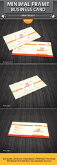 Minimal Frame Business Card (dotnpix) Tags: print logo corporate quality creative minimal clean business identity agency frame create simply proposal simple campaign template premium discover minimum designstudio moderndesign originate