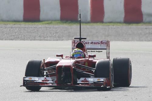 Felipe Massa in his Ferrari at Formula One Winter Testing, March 2013