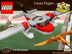 5935 Island Hopper (Redux) Box Art (bruceywan) Tags: sea storm set plane island official dino lego dinosaur ms gail miss hopper seaplane photostream pontoon redux redesign moc adventurers pteranodon 5935 brucelowellcom