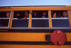 (patrickjoust) Tags: street city school people urban usa west color bus film students smiling yellow kids analog america 35mm children happy person us md focus angle mechanical 21 cosina united north wide patrick maryland rangefinder baltimore states manual schoolbus expired joust mlk cv wetzlar estados kodak100uc c41 unidos leitz leicam3 martinlutherkingblvd autaut voigtlandercolorskopar21mmf40 voigtlandercolorskopar21mmf4 patrickjoust