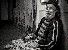 charlie (Gavin Mills Photography) Tags: street leica portrait blackandwhite dog streets reflection london love broken monochrome look hat 35mm dark underground subway beard hope eyes shadows looking friendship bokeh expression candid portait homeless prayer pray bodylanguage streetportrait rangefinder honest cap m8 despair lonely walls wish wisdom cracks relaxed gaze wrinkles hobo promise summilux asph corrosion tender tenderness vagrant dejected corroded filmnoir nationalgeographic destitute indifference hopeless despondent megapolis shadowy humancondition deteriorate documentry monochome greyhaired