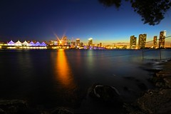 THE TIDE (XIGLER) Tags: sunset skyline architecture canon miami structure citylights brickell biscaynebay miamiskyline miamidowntown