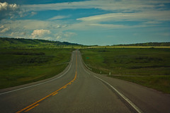 The road to greener times (JoLoLog) Tags: canada green alberta lorien happystpatricksday highway22 canonxsi