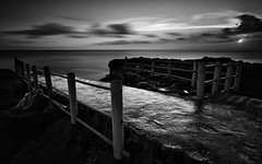 Broken Bridge (eggysayoga) Tags: longexposure bridge bw bali se nikon wide tokina le uwa slowspeed canggu seseh 10stop nd32 1116mm indonesiasunset nd100 d7000