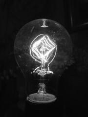 DSC06892.omi_bw (nordamerica1) Tags: light blackandwhite bw white black lamp lightbulb wisconsin vintage march blackwhite antique wi filament stoughton 2013