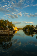 Key West (sinis@011) Tags: light sunset sky water clouds canon palms keys evening canal florida 7d