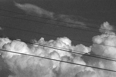 Clouds (Area Bridges) Tags: blackandwhite cloud film clouds pentax scan scanned grainy pushed 1990 mesuper