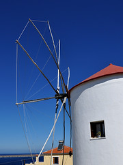 Sigri - Sky, Wind and Mill (Drriss & Marrionn) Tags: travel blue sun white windmill landscape europe greece lesvos lesbos sigri greekwindmill northaegean vpu1 vigilantphotographersunite vpu2 vpu3