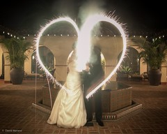 I Heart Sparklers (David Marano Photography) Tags: wedding groom bride event
