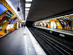 Metro station (Lepidoptorologic beauty*) Tags: paris lumix metro panasonic 20mm ratp lightroom oberkampf 2017 ligne5 gx1 lumixgx1 20mm17 20mmpancake 20mm17asph lightroom4 panasonicgx1