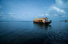 Row, row, row your boat Gently down the stream. ....Merrily, merrily, merrily, merrily,... Life is but a DREAM  (EXPLORED) (:::. Mnju .:::) Tags: nature boat life dream row backwaters kerala houseboat tourism