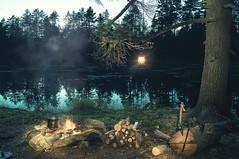 My Camp Fire Scene (Jackx001) Tags: camping ontario wild nature canada discover explore world travel jacknobre bushcraft night long exposure fire light