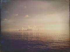 At Sea (dreamscapesxx) Tags: iphone6s hipstamatic clouds cloudsmovingin atthebeach beautifulevening beautifullight tranquil treasureislandfl